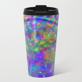 Crystal Face Metal Travel Mug