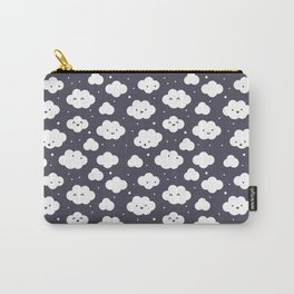Happy clouds with snow Carry-All Pouch