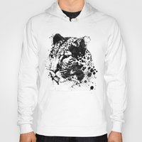 leopard Hoodies featuring Leopard by DIVIDUS