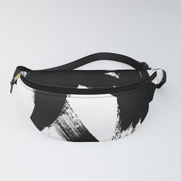 Brushstroke 2 - simple black and white Fanny Pack