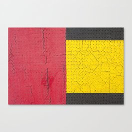 Red Grey Yellow Canvas Print