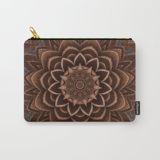 Coffee Shimmer Mandala Carry-All Pouch