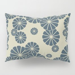 Blue Floral Japanese Pattern 2 Pillow Sham