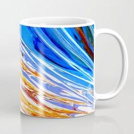 Riding the Wave of Orange Emotion; Fluid Abstract 53 Coffee Mug