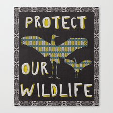 Protect Our Wildlife 2 Canvas Print