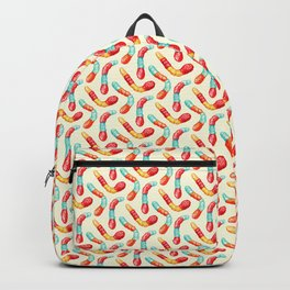 Gummy Worms Pattern  Backpack