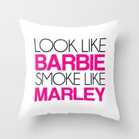 barbie Throw Pillows featuring Barbie by I Love Decor