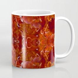 Red Rosie Kaleidoscope Photographic Pattern Coffee Mug