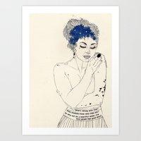 murakami Art Prints featuring You Are An Empty Vessel by Kaethe Butcher
