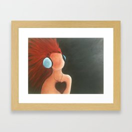 Listen to the heart Framed Art Print