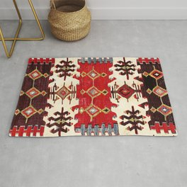 Burdur  Antique South West Anatolia Turkish Kilim Print Rug