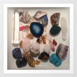 Assorted Crystal Stones Art Print