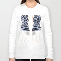 stripes Long Sleeve T-shirts featuring Stripes by Elly Liyana