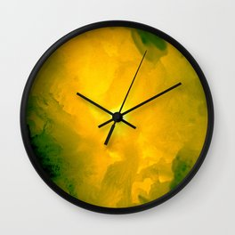 Textures (Yellow version) Wall Clock