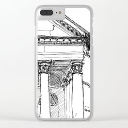 The Pantheon, Rome Clear iPhone Case