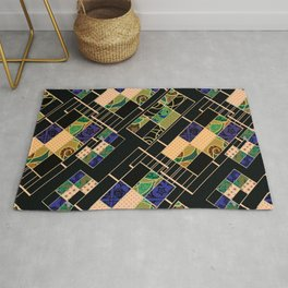 Creative patchwork. Rug