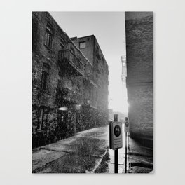 Alleys Climbing Up from the Railway Canvas Print