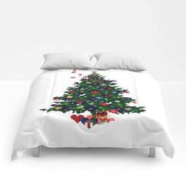 Plaid Christmas Tree Comforters