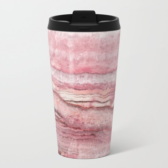 Mystic Stone Blush Metal Travel Mug