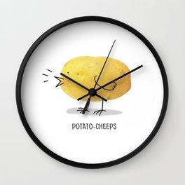 potato-cheeps Wall Clock