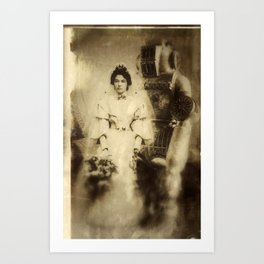 Victor and Anna's wedding. Art Print