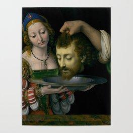 Salome with the Head of Saint John the Baptist - Andrea Solario Poster