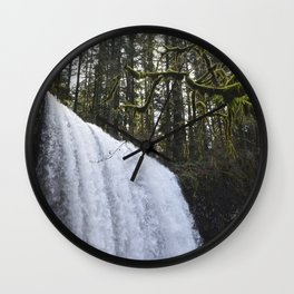 Middle North Falls - Silver Falls State Park Wall Clock
