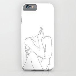 Nude life drawing figure - Celina iPhone Case