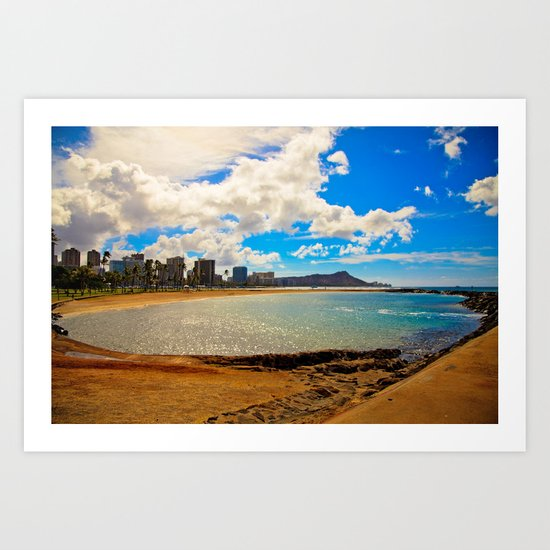 Diamond head view  Art Print