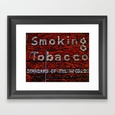 Tobacco and Bricks Framed Art Print