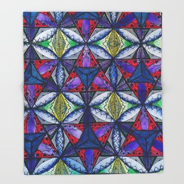 Crystalized Merkaba Throw Blanket