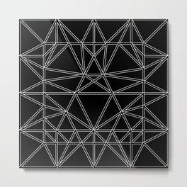 Abstraction 036 - Minimal Geometric Pattern Metal Print