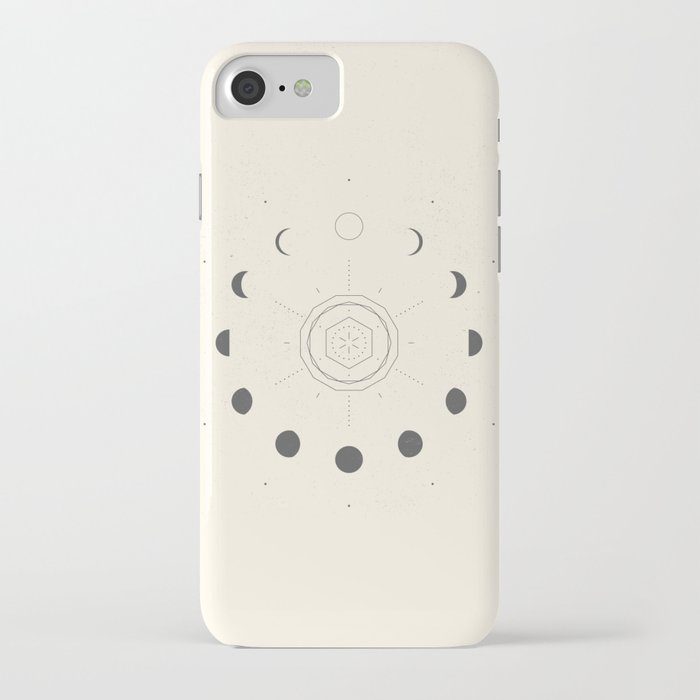 moon phases light iphone case