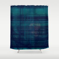 kate moss Shower Curtains featuring MOSS by Mike Maike