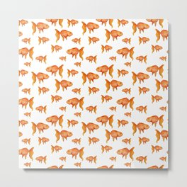 Goldfish pattern Metal Print