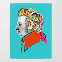 Mozart (collage) Poster