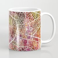 brussels Mugs featuring Brussels by MapMapMaps.Watercolors