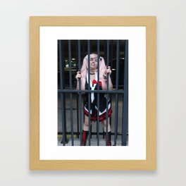 Behind Bars Framed Art Print