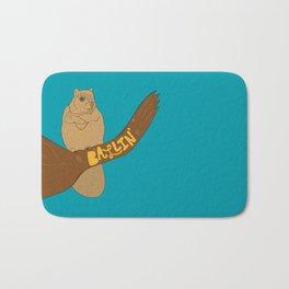 Ballin' Squirrel Bath Mat