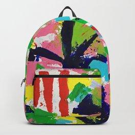 Bird Tracks, Abstract Art Backpack