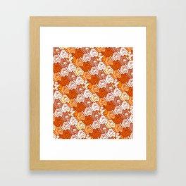 Sleepy kitten pattern Framed Art Print