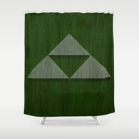triforce Shower Curtains featuring Triforce by katsunogi