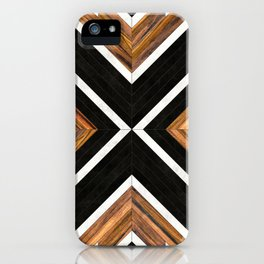 Urban Tribal Pattern 1 - Concrete and Wood iPhone Case