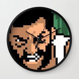 Logan minimal pixel art Wall Clock