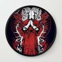 occult Wall Clocks featuring Occult by Tshirt-Factory