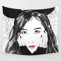 kpop Wall Tapestries featuring Yuri Kwon from Girls' Generation by Noir0083