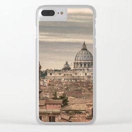 Rome Aerial View From Monte Pincio Terrace Clear iPhone Case