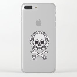 Motocross Motorsport Gift Skull Biker Motorcycle Biker Clear iPhone Case