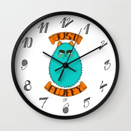 Just Fluffy (Teal) Wall Clock