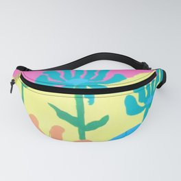 Spring Flowers and Butterfly Fanny Pack